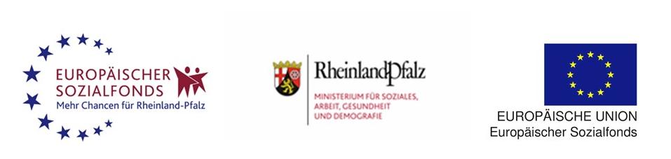 Logos des ESF und des Ministeriums